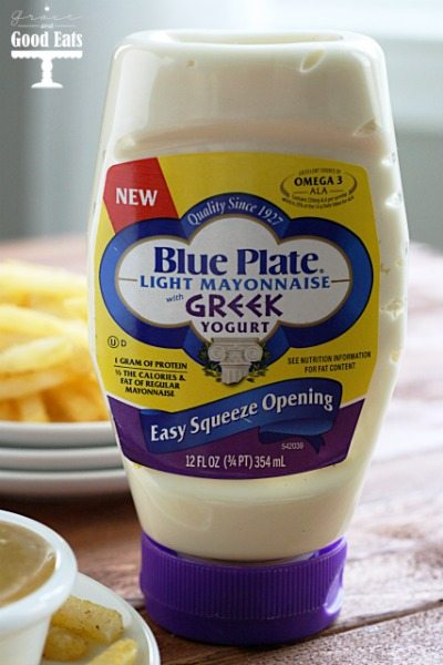 bottle of Blue Plate light mayonnaise