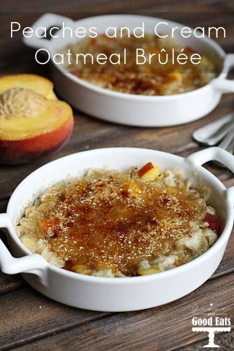 This Peaches and Cream Oatmeal Brûlée takes boring oatmeal to the next level with that classic, crunchy sugar topping you expect from the famous French dessert.
