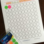 FREE PRINTABLE: 100 Books of Summer. Help your kids keep track of how many books they read over the summer or use this sticker chart as a way to incentivize reading.