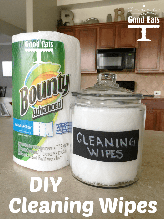 Make these easy DIY Cleaning Wipes with only two ingredients!