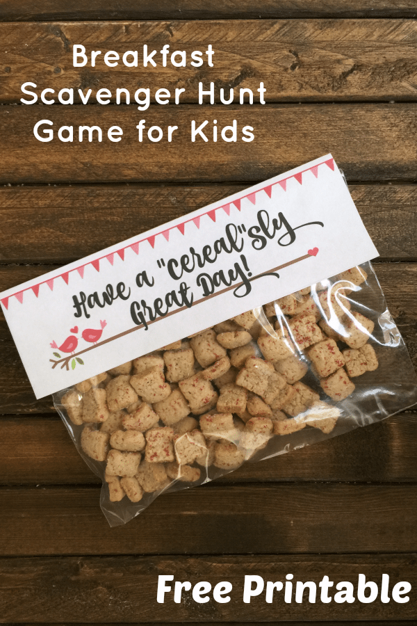 A fun breakfast scavenger hunt game for kids & a free printable!