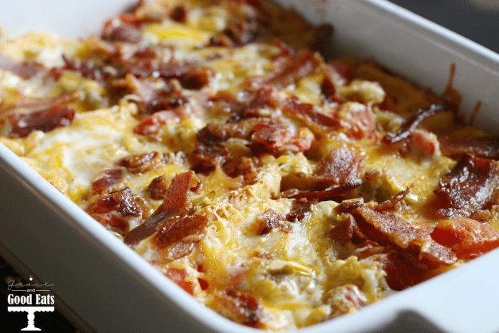 Bacon Egg And Cheese Strata Grace And Good Eats