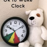 Help your little ones know when it is okay to get out of bed with this easy DIY Toddler Ok to Wake Clock with inexpensive dollar store items!