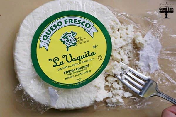 Cheese? Delicious. Guacamole? Delicious. Queso Fresco Guacamole- the most delicious thing ever!