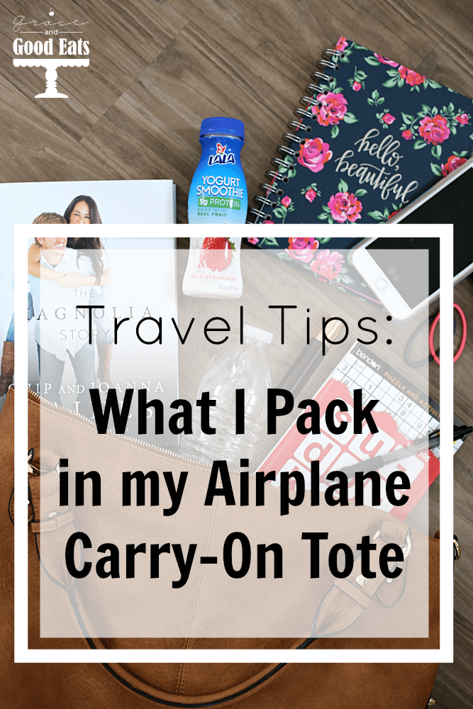 What I like to pack in my carry-on tote (personal item) when traveling.