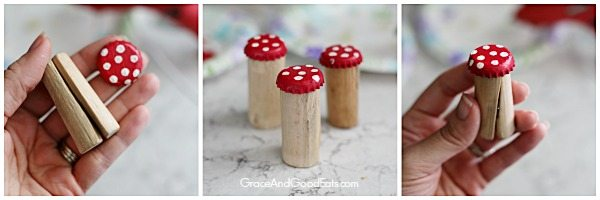 fairy garden bottle cap mushrooms