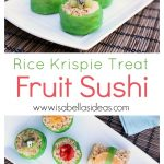 fruit sushi on a plate