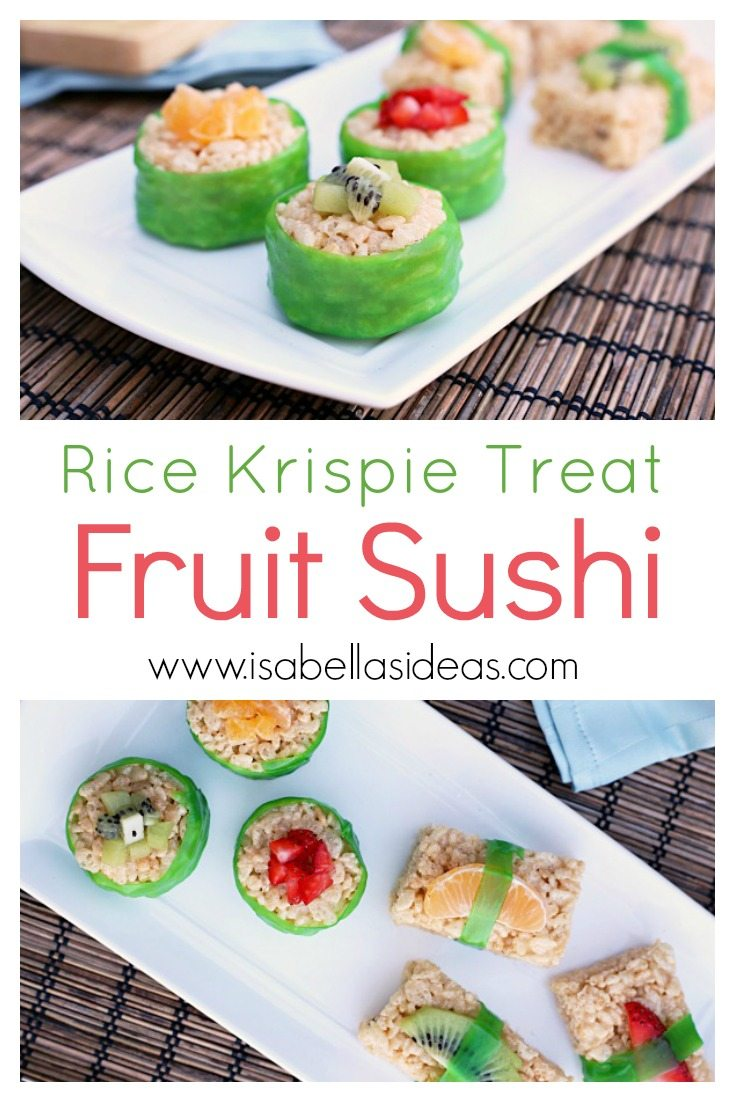This fruit sushi recipe is totally kid-friendly, perfect to make with your kiddos or for your kiddos as a fun lunchbox treat.