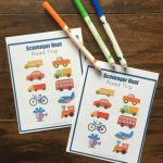 This free road trip vehicle scavenger hunt printable is a fun way to keep kids entertained in the car. Great for preschoolers!