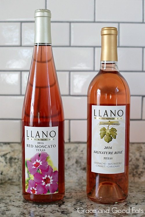 two bottles of Llano Estacado wine