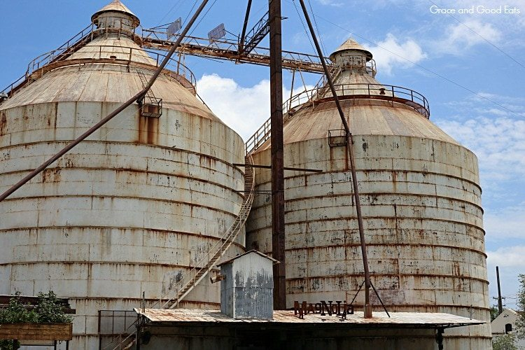 the Magnolia grain silos