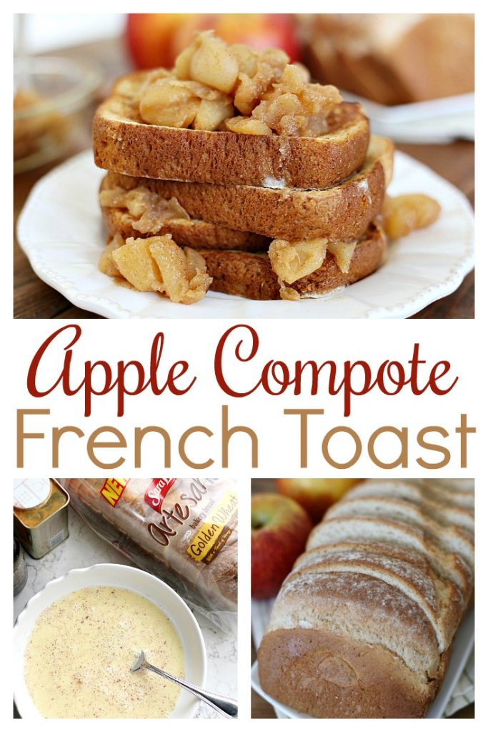 This Apple Compote French Toast brings the flavors of fall to a classic breakfast treat. Delicious all on its own but you can't go wrong with a drizzle of real maple syrup!