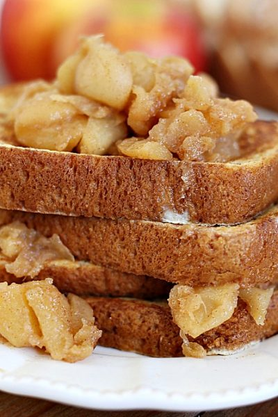 French toast with apples