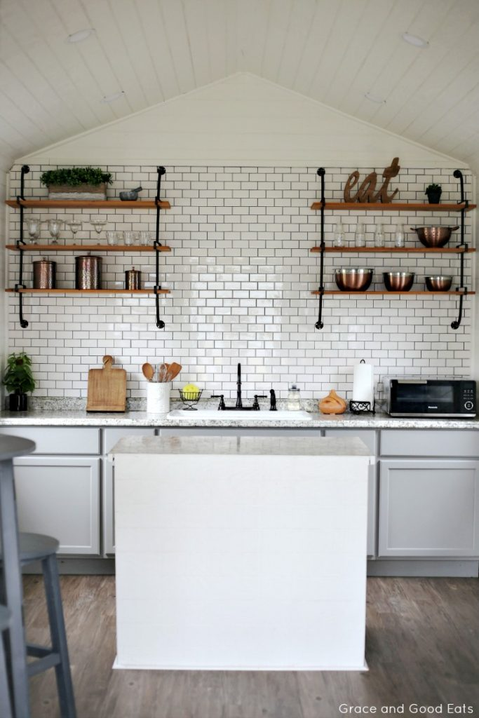 farmhouse she shed tiny kitchen