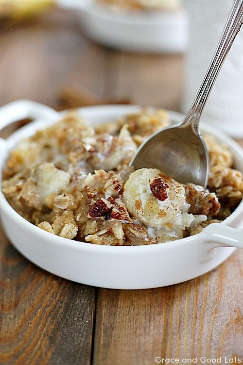 easy banana bread cobbler