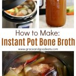 This Instant Pot Bone Broth only takes 30 minutes in the pressure cooker to become beautifully golden and full of flavor. Use leftover rotisserie chicken to make it even easier!