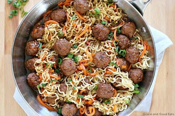 Beef Ramen Recipe with Meatballs