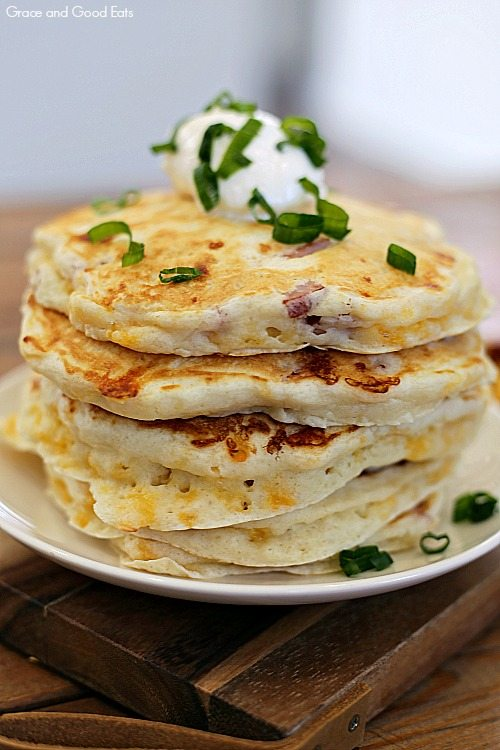 ham and cheese pancakes on a plate