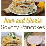 These Savory Ham and Cheese Pancakes are the perfect recipe for leftover holiday ham. They are so easy and delicious that they could easily be the star of your Easter brunch, too!