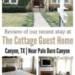The Cottage Guest Home is located in Canyon, TX and offers the similar amenities of a hotelwith the extra space of a two-bedroom home.A short 15 minute drive from the top of the canyon and about 20 minutes away from Amarillo, the Cottage Guest Home is conveniently located near West Texas A&M University and the Panhandle Plains Museum.