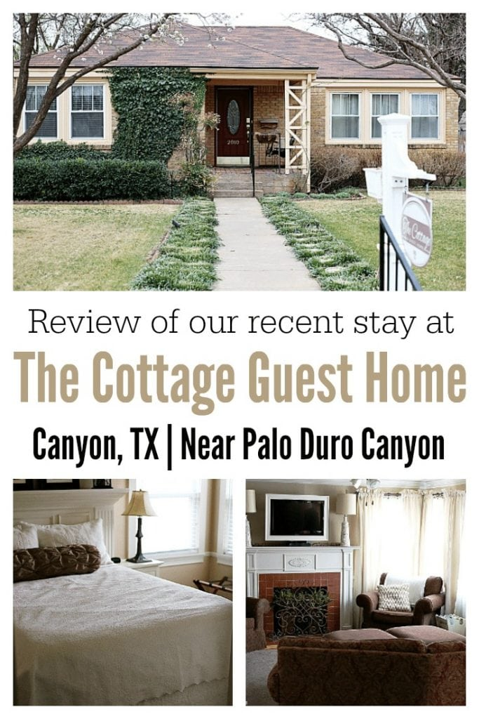 The Cottage Guest Home is located in Canyon, TX and offers the similar amenities of a hotel with the extra space of a two-bedroom home.  A short 15 minute drive from the top of the canyon and about 20 minutes away from Amarillo, the Cottage Guest Home is conveniently located near West Texas A&M University and the Panhandle Plains Museum.
