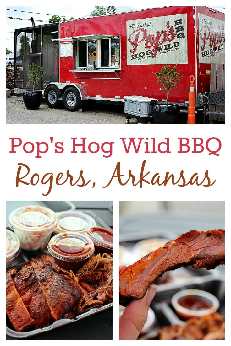 I had the best pulled pork of my life at Pop's Hog Wild BBQ located in Rogers, Arkansas. Smoked over hickory and secret magic for fifteen hours, it's a must try! #BBQ #Arkansas
