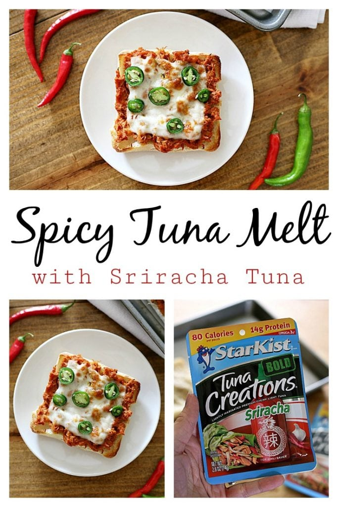 This no-mayo Spicy Tuna Melt only requires three ingredients and is packed with protein.  Use Sriracha and pepper-jack cheese to spice up this comforting classic!