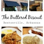 """During a recent trip to Northwest Arkansas, I stopped for breakfast at The Buttered Biscuit- where they serve up an """"honest breakfast that invites guests to be real.""""With a menu full of classics like biscuits and gravy, shrimp and grits, and buttermilk pancakes along with trendy options like chicken and waffles, black bean cakes, and acai bowls, The Buttered Biscuit is a must stop in Bentonville."""