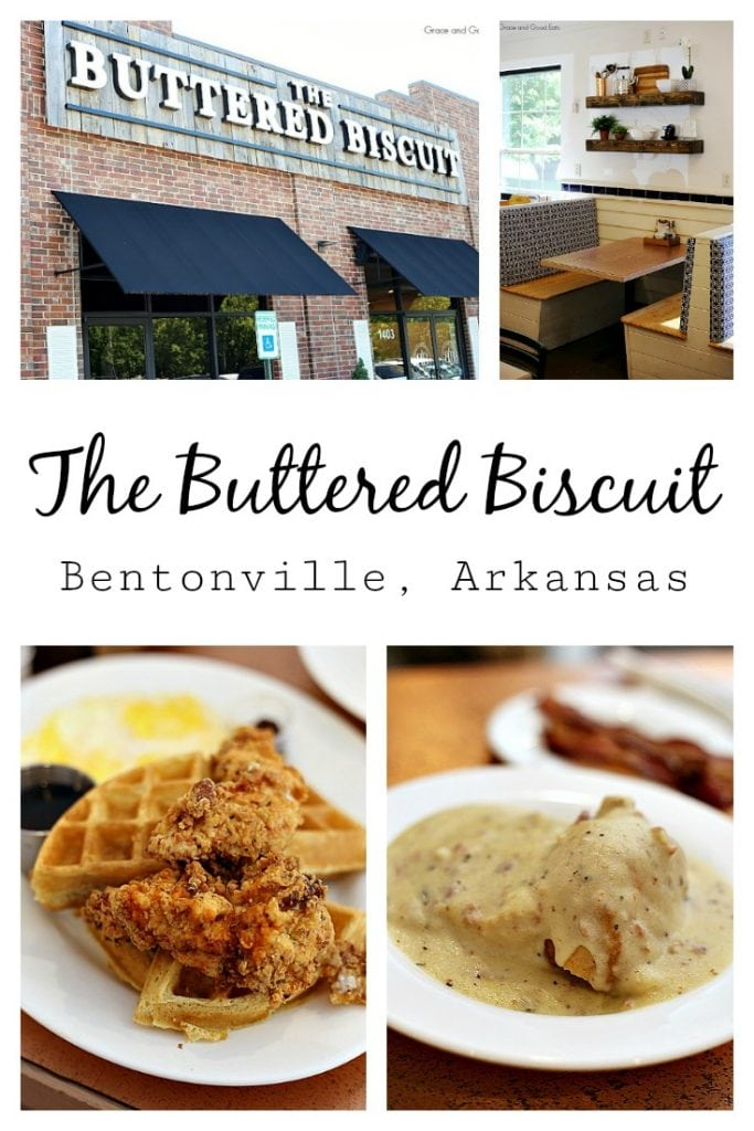 "During a recent trip to Northwest Arkansas, I stopped for breakfast at The Buttered Biscuit- where they serve up an ""honest breakfast that invites guests to be real.""  With a menu full of classics like biscuits and gravy, shrimp and grits, and buttermilk pancakes along with trendy options like chicken and waffles, black bean cakes, and acai bowls, The Buttered Biscuit is a must stop in Bentonville."