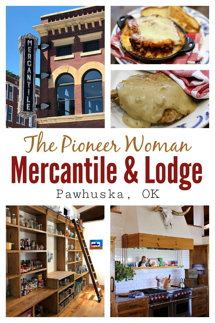 We visited The Pioneer Woman Mercantile in Pawhuska, OK on a recent mother-daughter summer road trip.  We ate at the restaurant, shopped at the Merc, took a peek in the new Boarding House, and even had the chance to tour the Lodge.