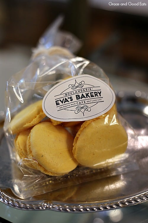 bag of Eva's Bakery macarons