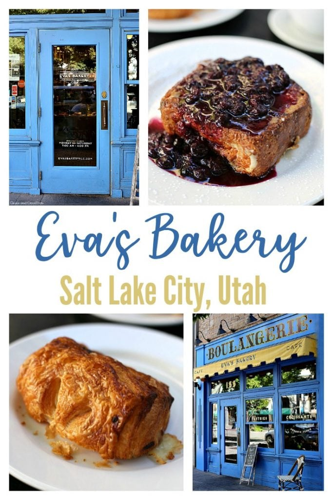 Eva's Bakery in Salt Lake City, Utah is a must-stop breakfast or brunch spot! Order a plate of the Stuffed French Toast with lemon cream cheese filling and blueberry compote or any of their flaky croissants- you won't regret it!