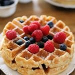 waffles topped with fruit