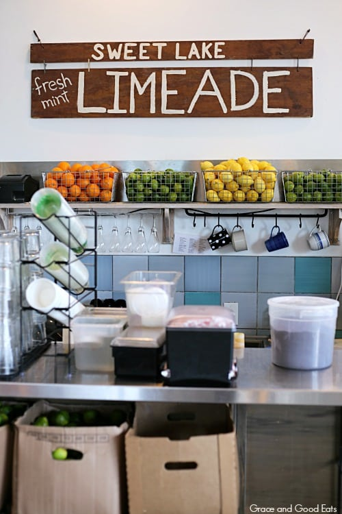 juice counter at Sweet Lake Biscuits and Limeade