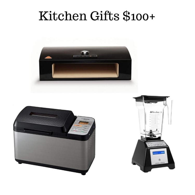 picture of an oven box, bread maker, and Blendtec blender