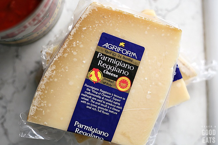 Parmigiano Reggiano in the package