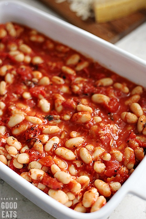Italian style baked beans