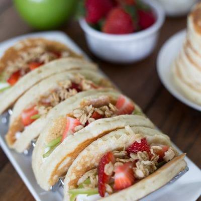 Pancake Parfait Tacos