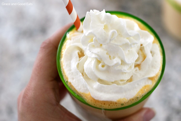 smoothie topped with whipped cream