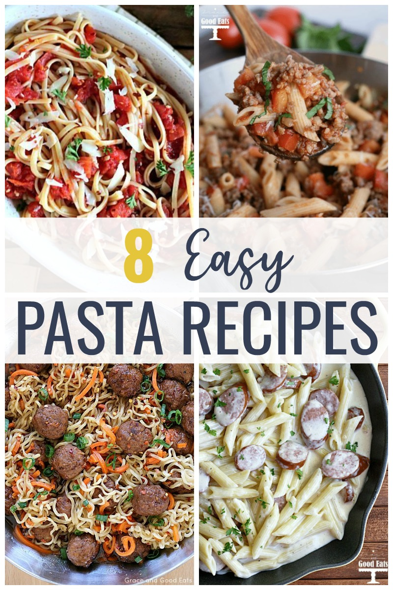 These Easy Pasta Dishes are perfect for busy week nights! Make homemade lasagna without ricotta or a simple sausage Alfredo that even your picky eaters will love.