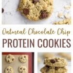 Protein Cookie Recipe | Tired of dry protein cookies that taste artificially sweetened? These chocolate chip protein cookies taste just like the real thing but with added protein!