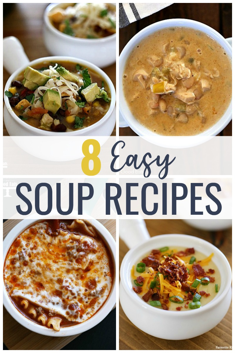 Make these Simple Soup Recipes, classics like Creamy Potato or Chicken Noodle, in the pressure cooker or slow cooker for a deliciously comforting weeknight meal.