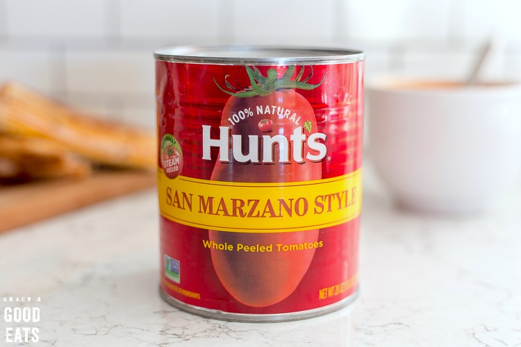 can of Hunt's San Marzano Style tomatoes