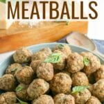 Homemade Meatballs are so much better than the store-bought version and so easy to customize. Use a combination of beef, turkey, or pork and mix in your favorite Italian herbs and seasonings with this simple oven-baked recipe.