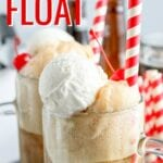 Ice Cream Floats are one of our favorite summertime treats! Root beer served over classic vanilla ice cream in a frosted mug is the perfect way to cool off on a hot day.