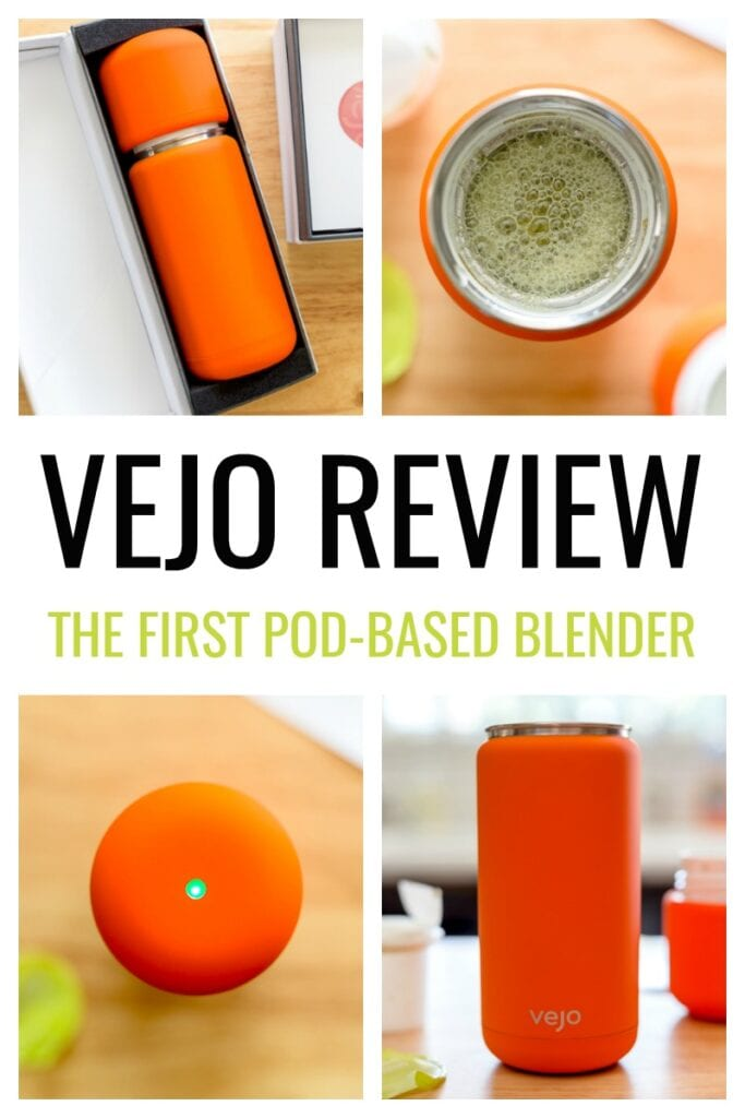 Vejo Review: Nutrition meets convenience with the Vejo pod-based personal blender. The Vejo offers a sleek, portable design and dozens of different blends, environmentally-friendly biodegradable pods, and ability to sync your smoothie intake with your smart phone.