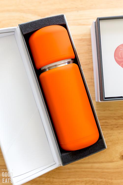 orange Vejo in box