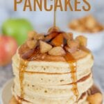 Apple Cinnamon Pancakes made with apple pie spice are a delicious fall breakfast favorite! Top with a three ingredient apple cinnamon compote or simply smother in real maple syrup.