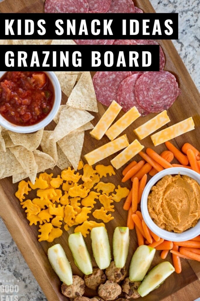 Kids Snack Ideas: Make this yummy snack board loaded up with protein, healthy fats, fruits and veggies.