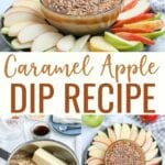 Caramel Apple Dip is a deliciously creamy dessert that tastes like your favorite fall treat without all the mess! This Caramel Apple Dip recipe is perfect served with cookies or fruit.